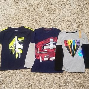 3 brand new boys long sleeve tees